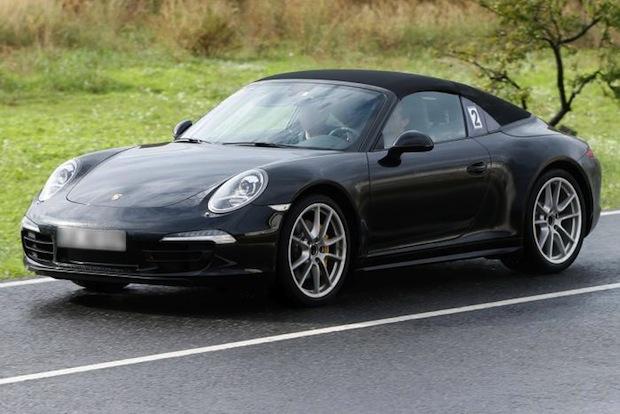 Porsche 911 Targa spy shots-3